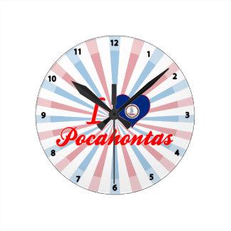 I Love Pocahontas, Virginia Round Wallclock
