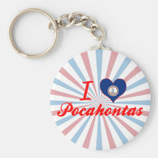 I Love Pocahontas, Virginia Keychain