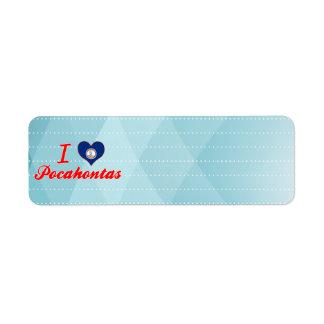 I Love Pocahontas, Virginia Custom Return Address Labels