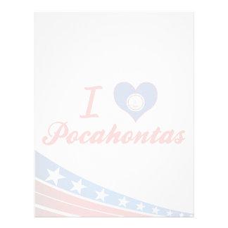 I Love Pocahontas, Virginia Custom Letterhead