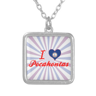I Love Pocahontas, Virginia Personalized Necklace