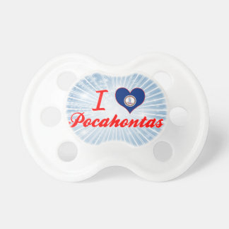 I Love Pocahontas, Virginia Baby Pacifiers