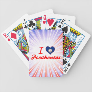I Love Pocahontas, Virginia Bicycle Poker Cards
