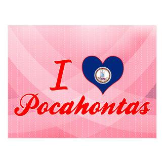 I Love Pocahontas, Virginia Postcard