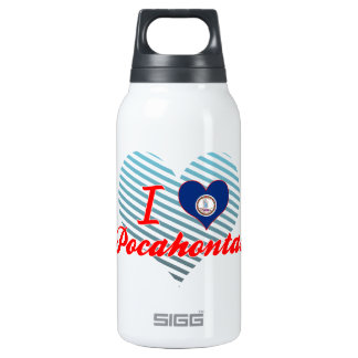I Love Pocahontas, Virginia 10 Oz Insulated SIGG Thermos Water Bottle