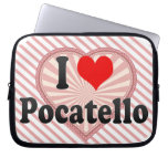 I Love Pocatello, United States Computer Sleeves