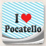 I Love Pocatello, United States Drink Coaster