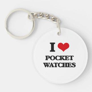 I Love Pocket Watches Round Acrylic Keychain