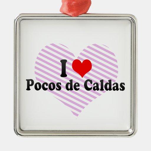 I Love Pocos de Caldas, el Brasil Adorno De Navidad