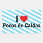 I Love Pocos de Caldas, el Brasil Rectangular Altavoz