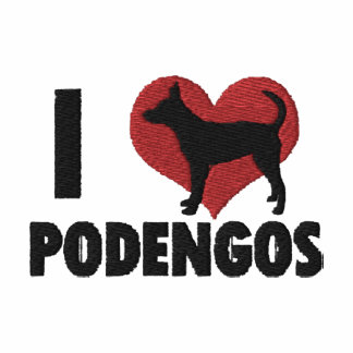 I Love Podengos Embroidered T-Shirt