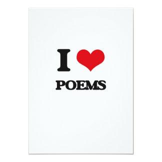 I Love Poems 5x7 Paper Invitation Card