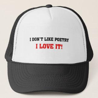 I love poetry trucker hat