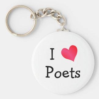 I Love Poets Keychains
