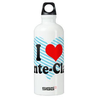 I Love Pointe-Claire, Canada Aluminum Water Bottle