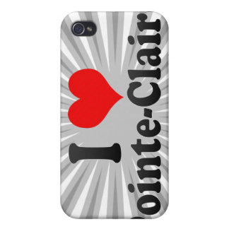 I Love Pointe-Claire, Canada iPhone 4 Cases