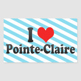 I Love Pointe-Claire Canada Rectangle Stickers