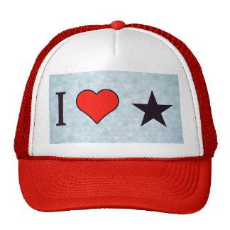 I Love Pointed Stars Trucker Hat