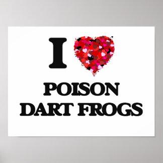 I love Poison Dart Frogs Poster