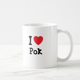 I love Pok heart T-Shirt Coffee Mug