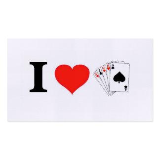 I Love Poker Business Card