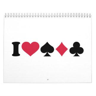 I love Poker Calendar
