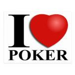 I Love Poker Cartao Postal