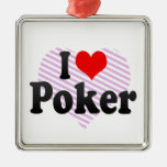 I love Poker Christmas Tree Ornaments