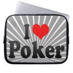 I love Poker Computer Sleeves
