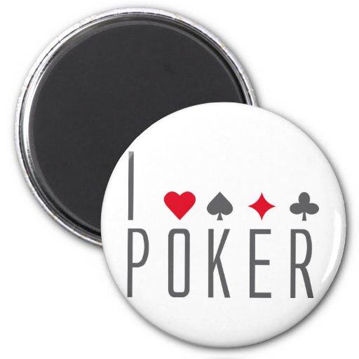 I Love poker Fridge Magnet