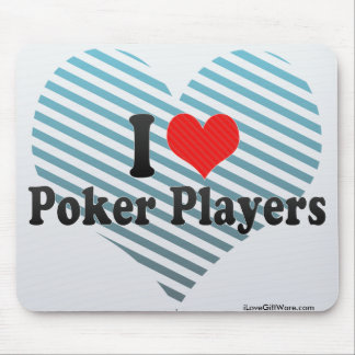 I Love Poker Players Mouse Pads