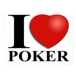 I Love Poker Postcard