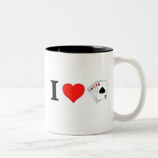 I Love Poker Two-Tone Coffee Mug