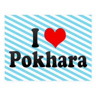 I Love Pokhara, Nepal Postcard