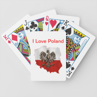I Love Poland Bicycle Playing Cards