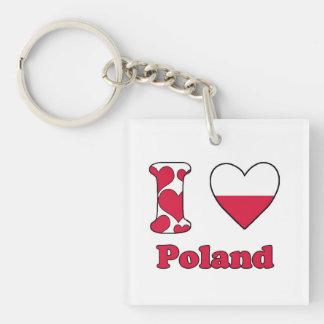 I love Poland Key Chain