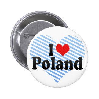 I Love Poland Pinback Button