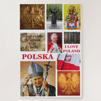 I LOVE POLAND,,,POLISH ICONS JIGSAW PUZZLE