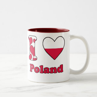 I love Poland Two-Tone Coffee Mug