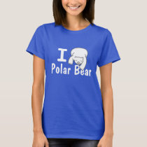 I Love Polar Bear Blue Shirt
