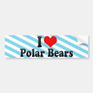 I Love Polar Bears Car Bumper Sticker
