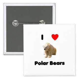 I love polar bears Button