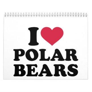 I love Polar Bears Calendar