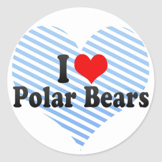 I Love Polar Bears Classic Round Sticker