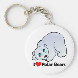 I Love Polar Bears Keychain