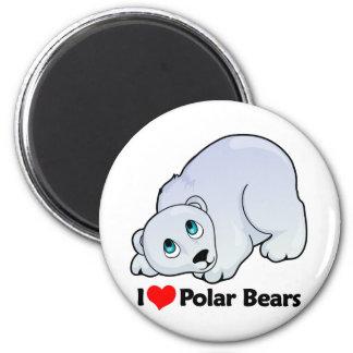 I Love Polar Bears Magnet