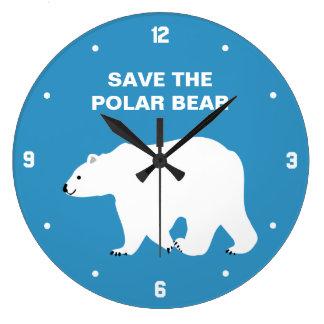 I Love Polar Bears - Save the Polar Bear Wall Clocks