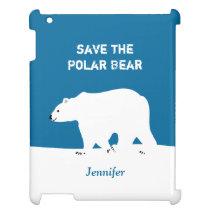 I Love Polar Bears - Save the Polar Bear iPad Cover