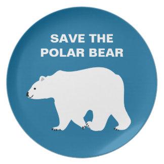 I Love Polar Bears - Save the Polar Bear Party Plates