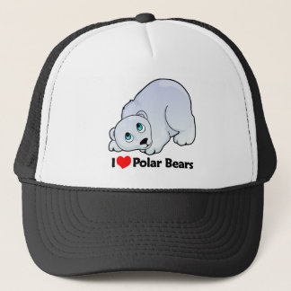 I Love Polar Bears Trucker Hat